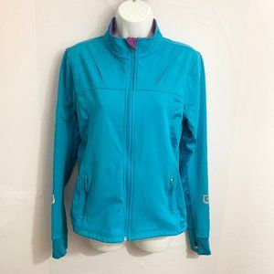 Athleta Zip Up Running Jacket Blue Size Medium